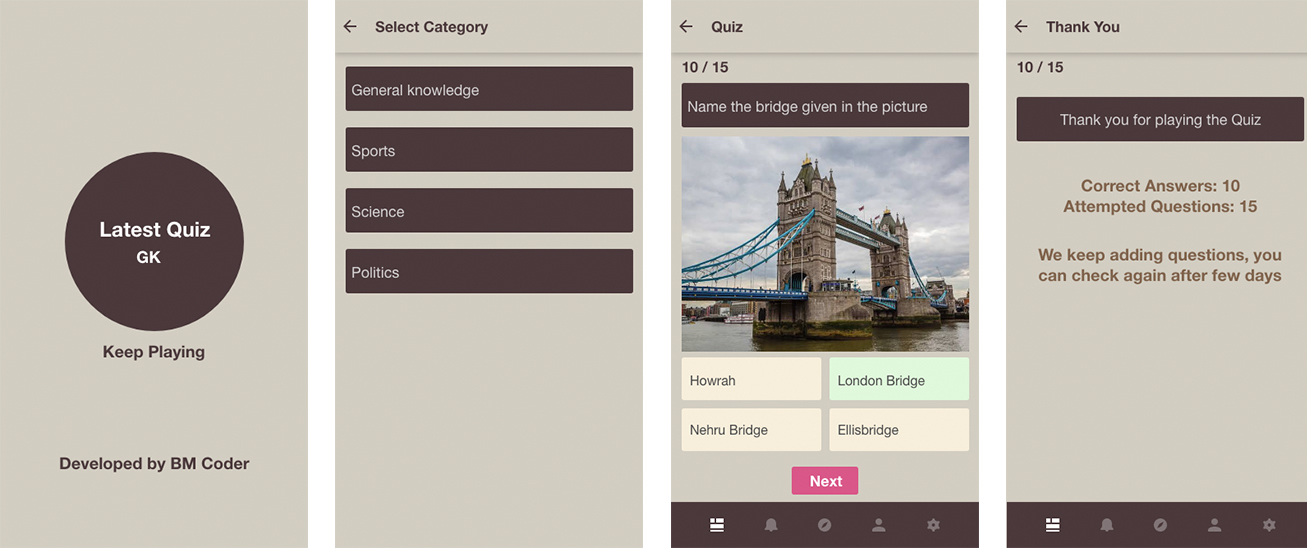 Play and learn with GK Quiz mobile application