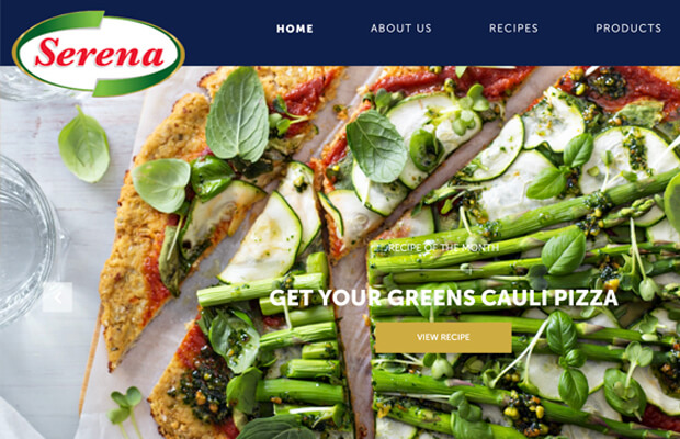 Design, Development and wordpress integration of Serena Brand